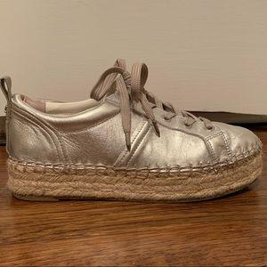 Sam Edelman soft silver espadrilles